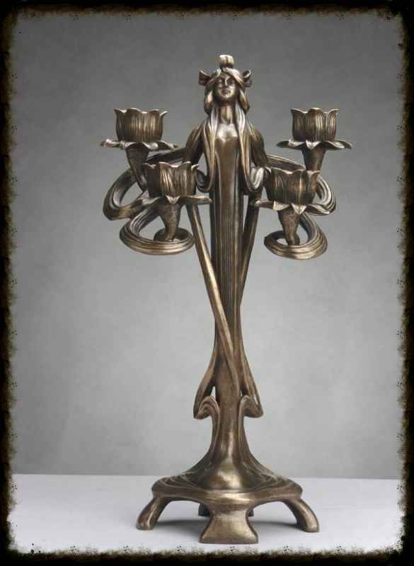 Fantastic Art Nouveau Chandelier Candelabra Candle Holder