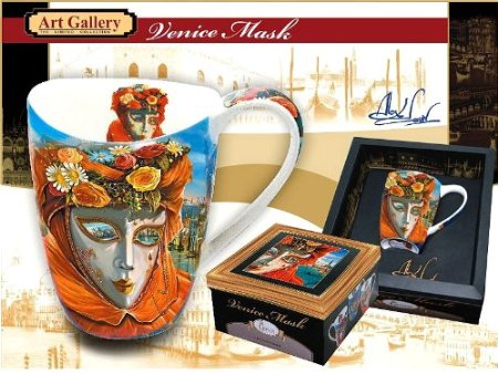 Stunning Carmani Venetian Mask Coffee Mug